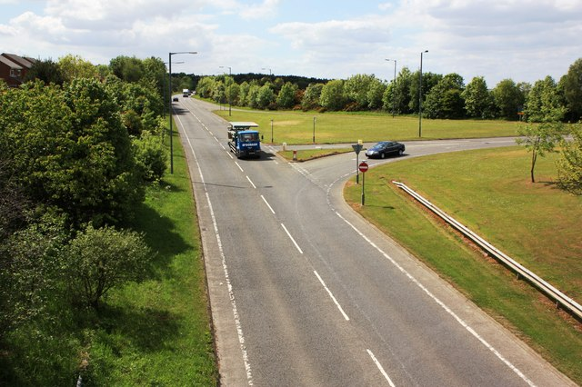Road junction on the A181 road