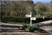 SW7724 : Road Junction at the Head of Gillan Creek by Tony Atkin