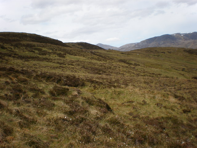 Looking north from stalkers path on Meall a' Mhadaidh