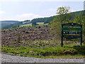SN8689 : Forestry clearfell by the Afon Biga by Nigel Brown