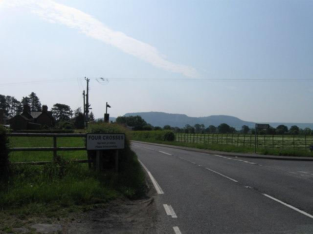 Four Crosses village sign