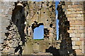 NU1109 : Edlingham castle - wall section by Nick Mutton