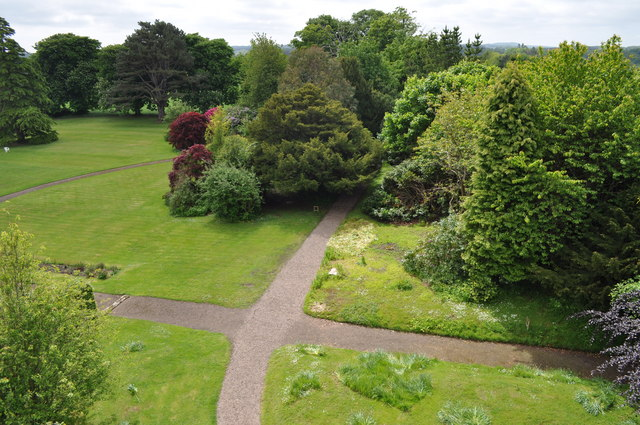 View of gardens at Preston Tower