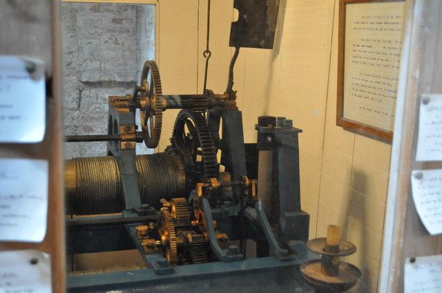Bell mechanism inside Preston Tower