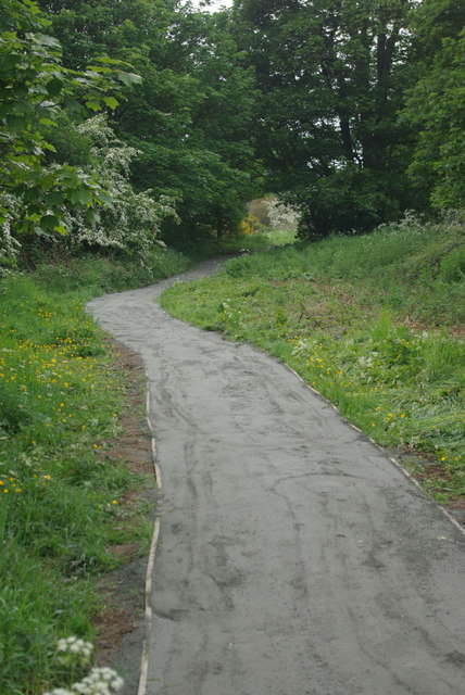Riverside path, Ryton Island