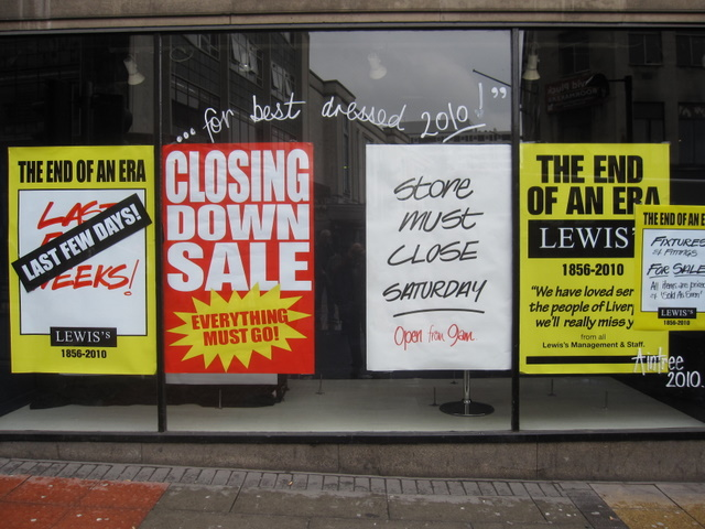 Lewis's - the end of an era