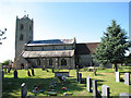 TF7319 : The church of St Nicholas in Gayton by Evelyn Simak