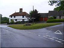 TG1508 : Church Street, Bawburgh & Bawburgh Village Sign by Geographer