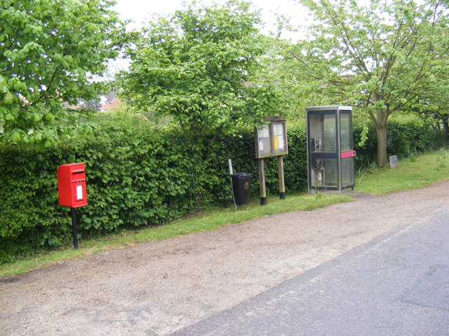 Former Post Office Postbox, Telephone Box & Bawburgh Village Notice Board