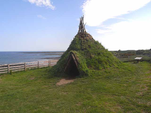 Reconstruction of a Stone Age hut