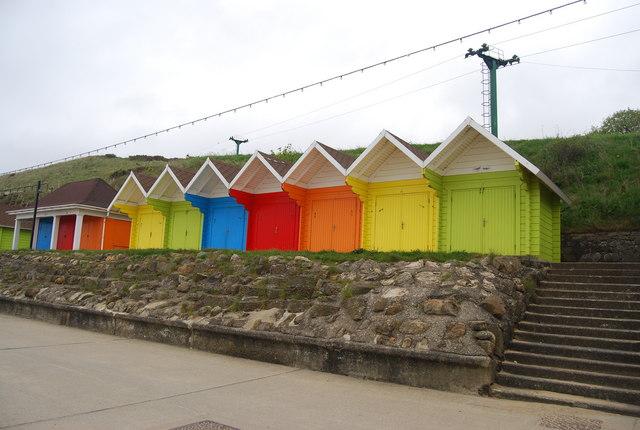 Colourful Beach Huts, North Bay Promenade