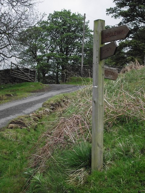 Footpath And Bridleway Sign