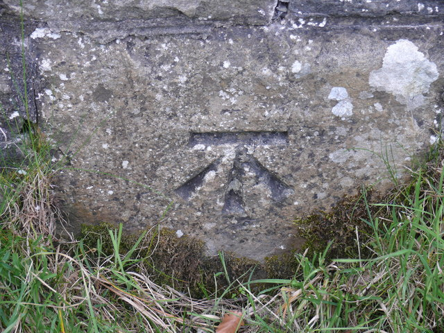 Benchmark on Railway Bridge by Moorcock Cottages