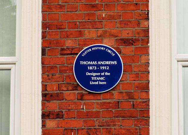 "Thomas Andrews ""Titanic"" plaque, Belfast"