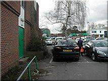 SP2871 : Car park frontage, former Budgens store, Kenilworth by John Brightley