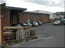 SP2871 : Service yard, former Budgens store, Kenilworth by John Brightley