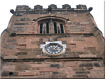 SJ8588 : Cheadle: St Mary's Church clock, south face by Robin Stott