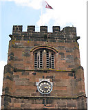 SJ8588 : Cheadle: St Mary's Church clock, west face by Robin Stott