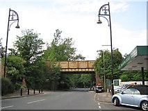 SJ8588 : Railway bridge over Manchester Road, Cheadle by Robin Stott