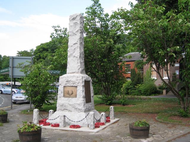 Cheadle War Memorial, Manchester Road: 1