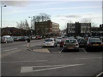 SP2871 : Abbey End car park looking towards Station Road, Kenilworth by John Brightley