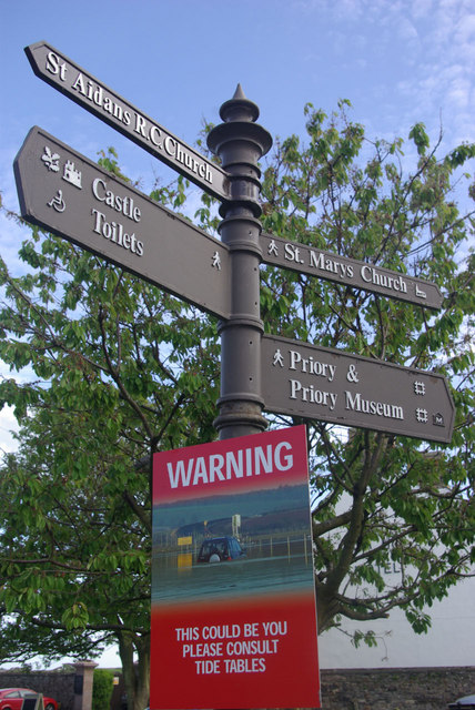 Signpost - Market Place, Holy Island