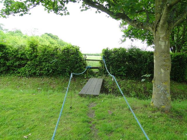 Footpath through a private garden