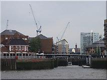 TQ3680 : Entrance to Limehouse Marina by Graeme Smith