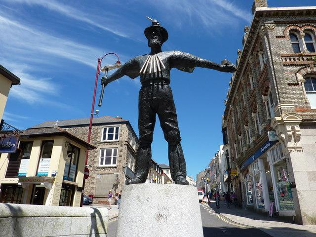 Cornish Miner Statue, Redruth