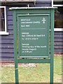 TM2166 : Bedfield Unitarian Chapel Notice Board by Adrian Cable