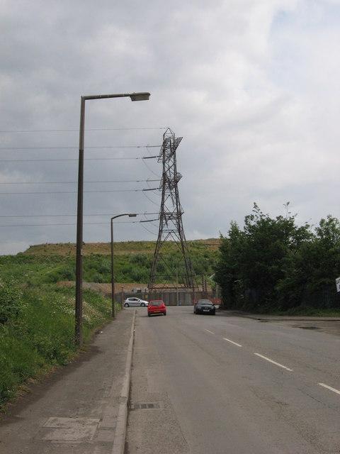 Pylon at end of Seawall Road, Cardiff by Gareth James