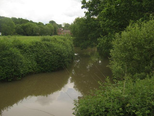 River Medway - looking upstream towards Ashurst