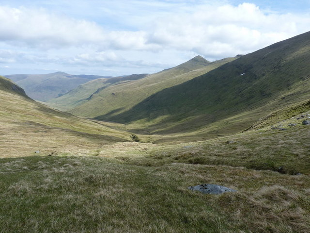 The upper part of the corrie of the Allt a' Chobhair