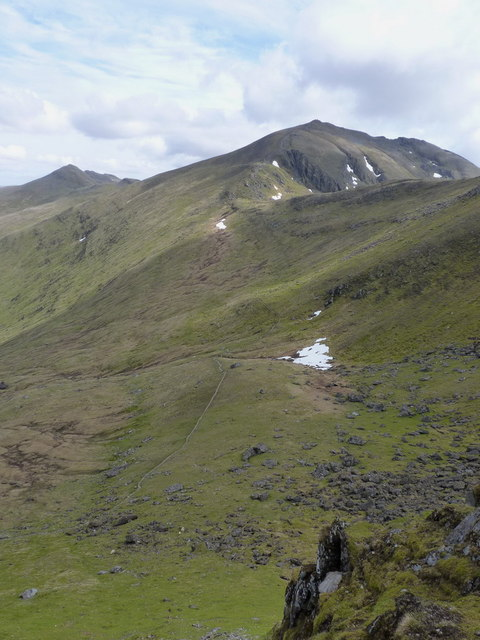 The high corrie below Beinn Ghlas