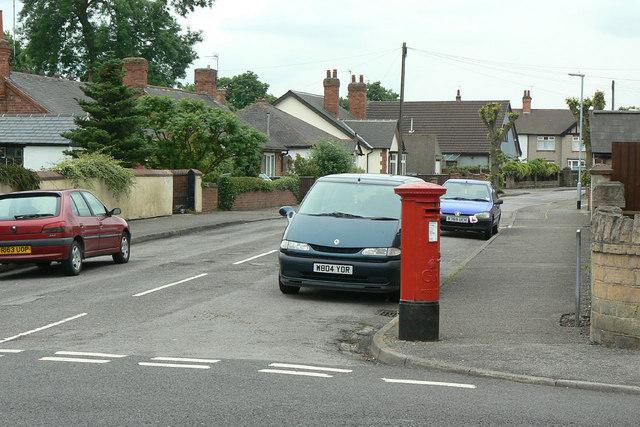 Derbyshire Lane postbox Ref: NG15 5