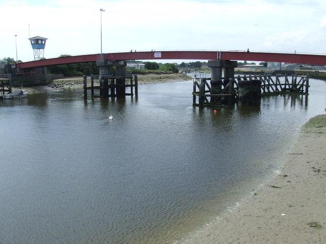 River Arun and retracting bridge, Littlehampton