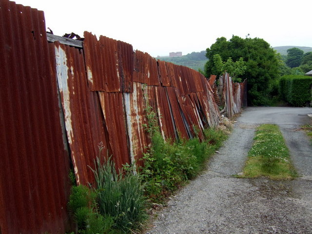 Corrugated Iron Fence 169 Ceridwen Geograph Britain And