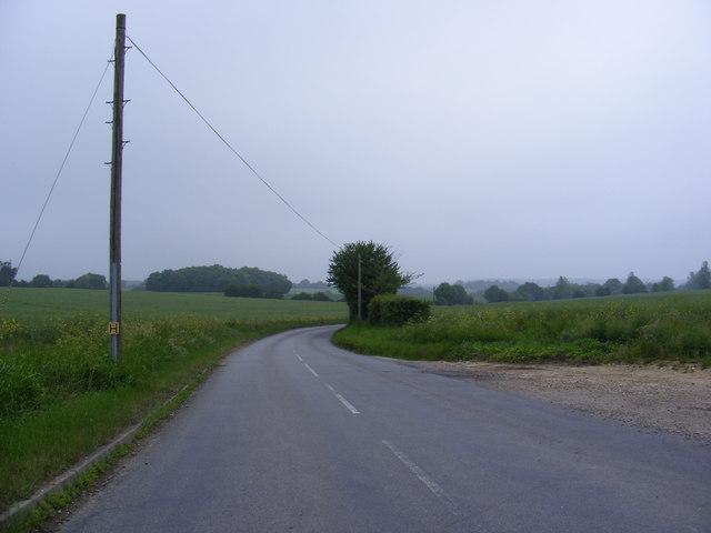 B1117 Laxfield Road at Ubbeston