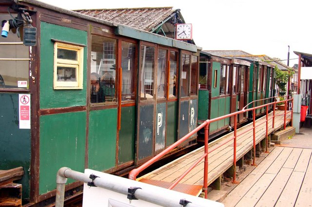 The electric train on Hythe Pier