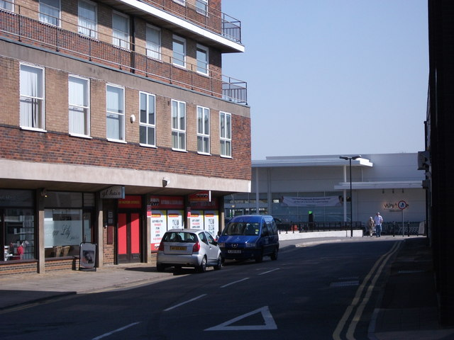 Looking towards Waitrose from Station Road, Kenilworth