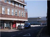 SP2871 : Looking towards Waitrose from Station Road, Kenilworth by John Brightley