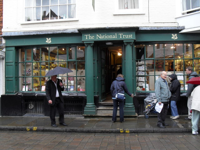 The National Trust Shop in Salisbury  city centre