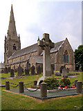 SD6715 : St Peter's Church and Belmont War Memorial by David Dixon