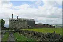 SE0730 : Derelict Farm Buildings - Ned Hill Road by Betty Longbottom
