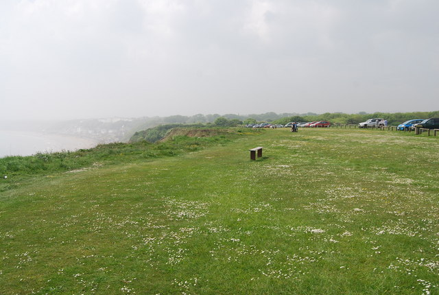 Cliff top bench, Filey Country Park