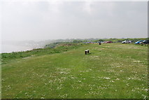 TA1281 : Cliff top bench, Filey Country Park by N Chadwick