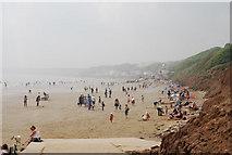 TA1281 : Busy Filey Beach by N Chadwick