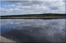 SD9521 : Sky reflected in Warland Reservoir by Bill Boaden