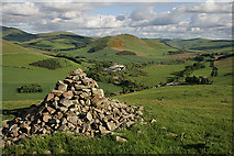 NT8127 : A cairn on Yetholm Law by Walter Baxter