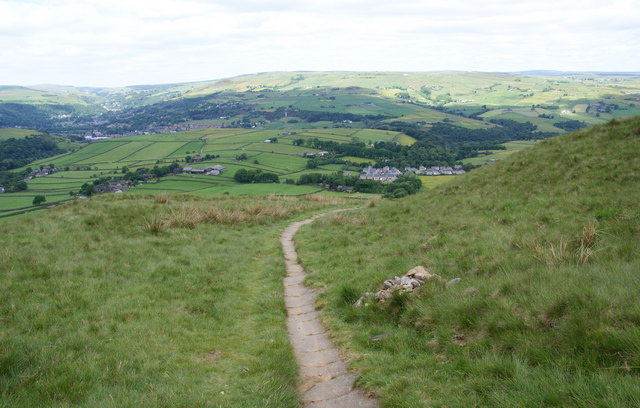 The Calderdale Way descending into Calderdale